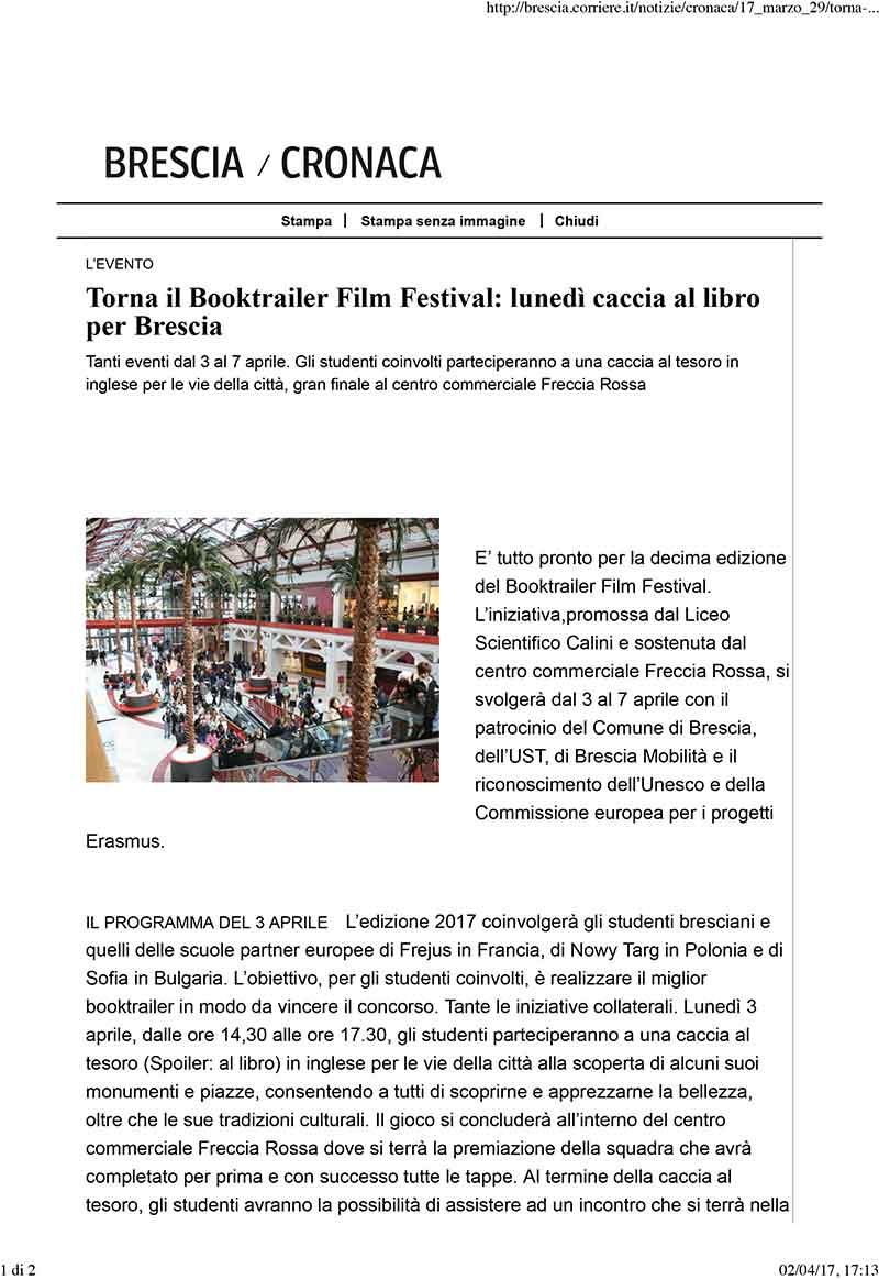 Torna il Booktrailer Film Festival: lunedì caccia al libro per Brescia.